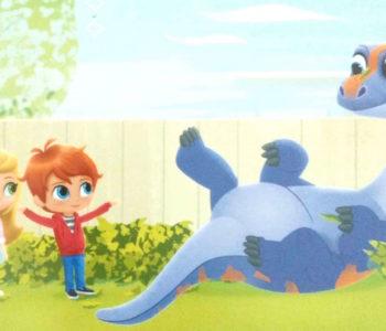 Shimmer i Shine dinosaur w ogrodzie