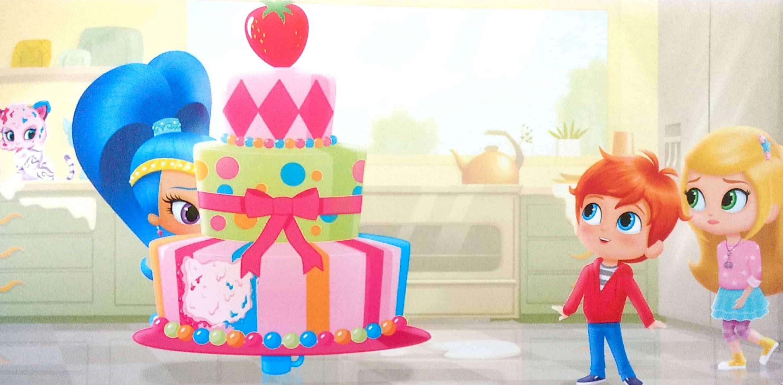 Shimmer i Shine wielki tort