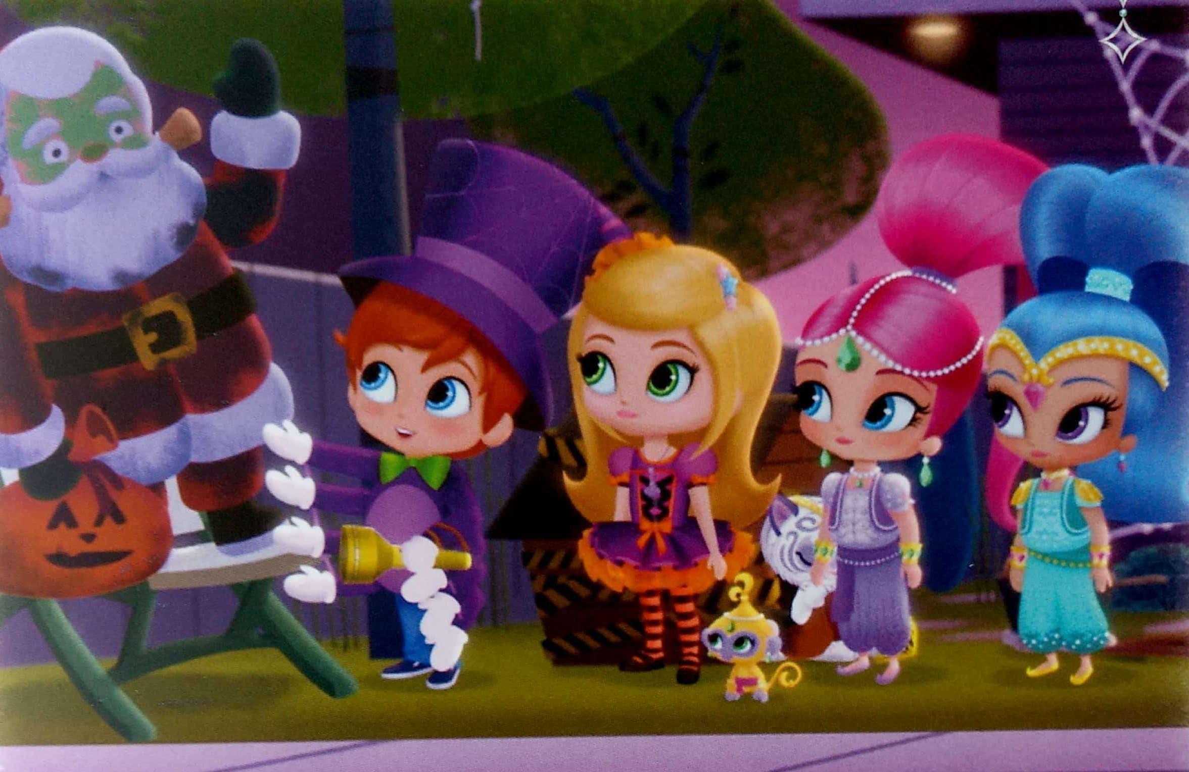 Shimmer i Shine mikołaj na Halloween