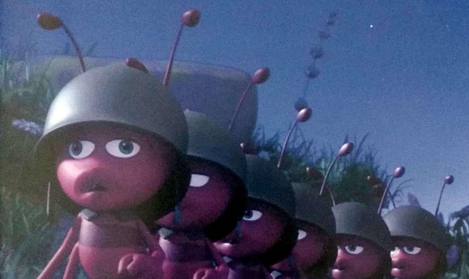 Pszczółka Maja patrol mrówek