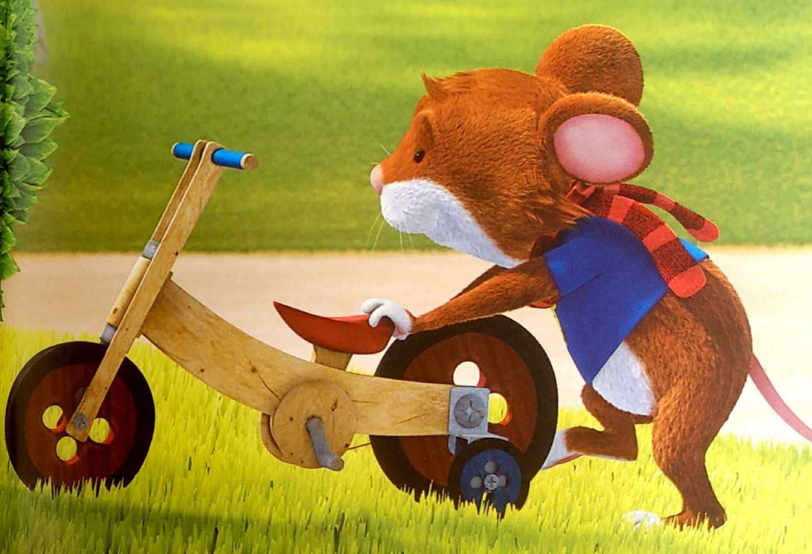 Tupcio Chrupcio chowa rower