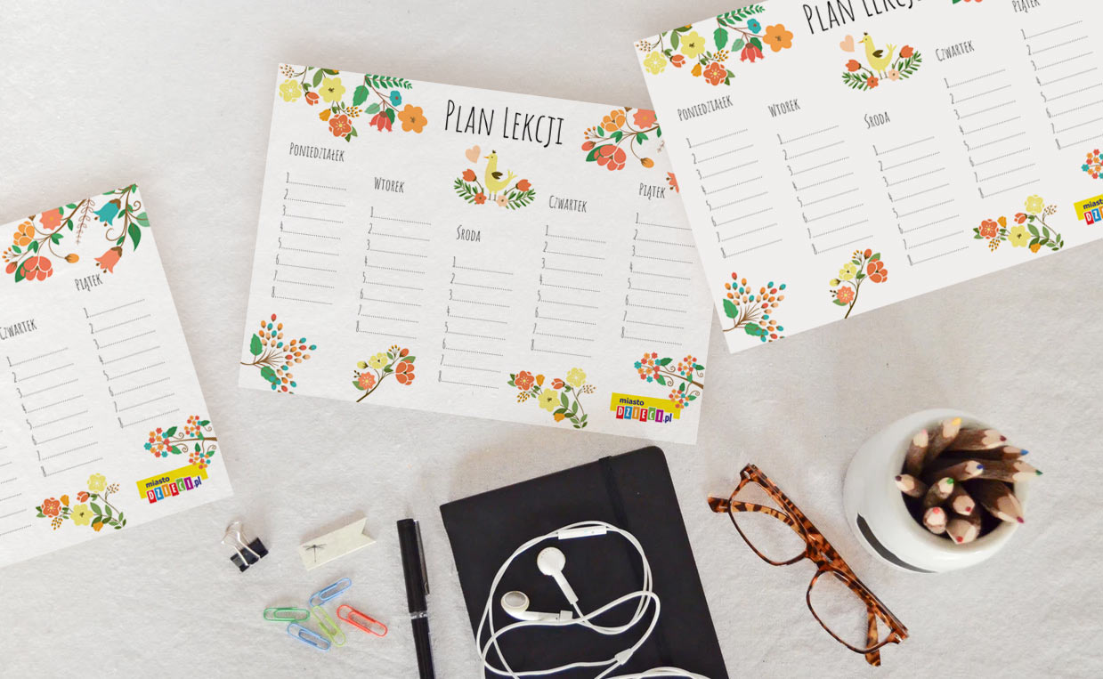 Plany lekcji do druku – gotowe do uzupełnienia na cały rok szkolny!