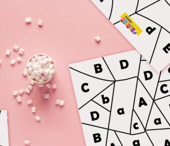 Nauka alfabetu przez zabawę – kolorowanki z ukrytymi literkami dla dzieci