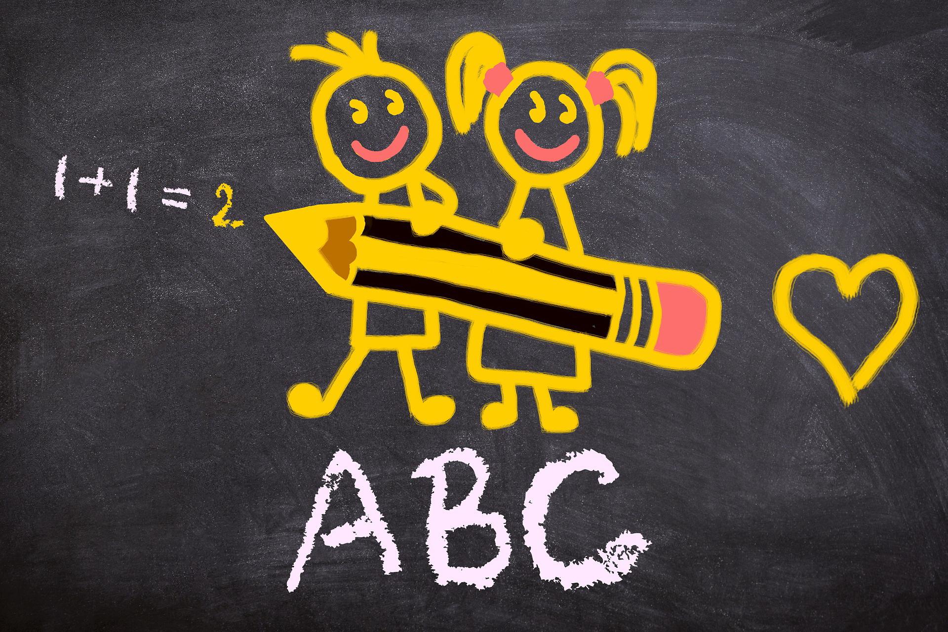 tablica zagadki o szkole dla dzieci z odpowiedziami
