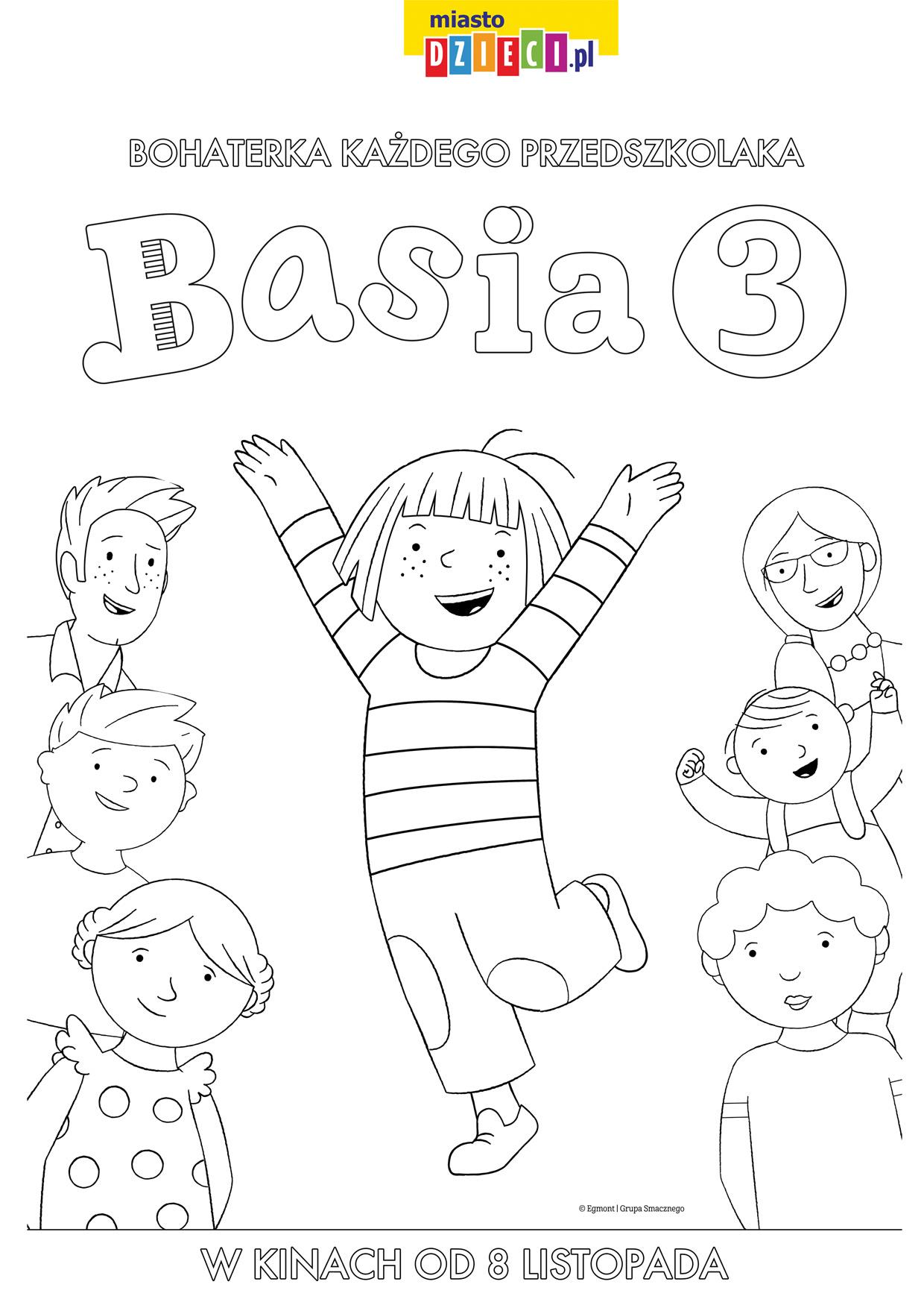 Basia kolorowanki i szablony do druku dla dzieci MiastoDzieci.pl
