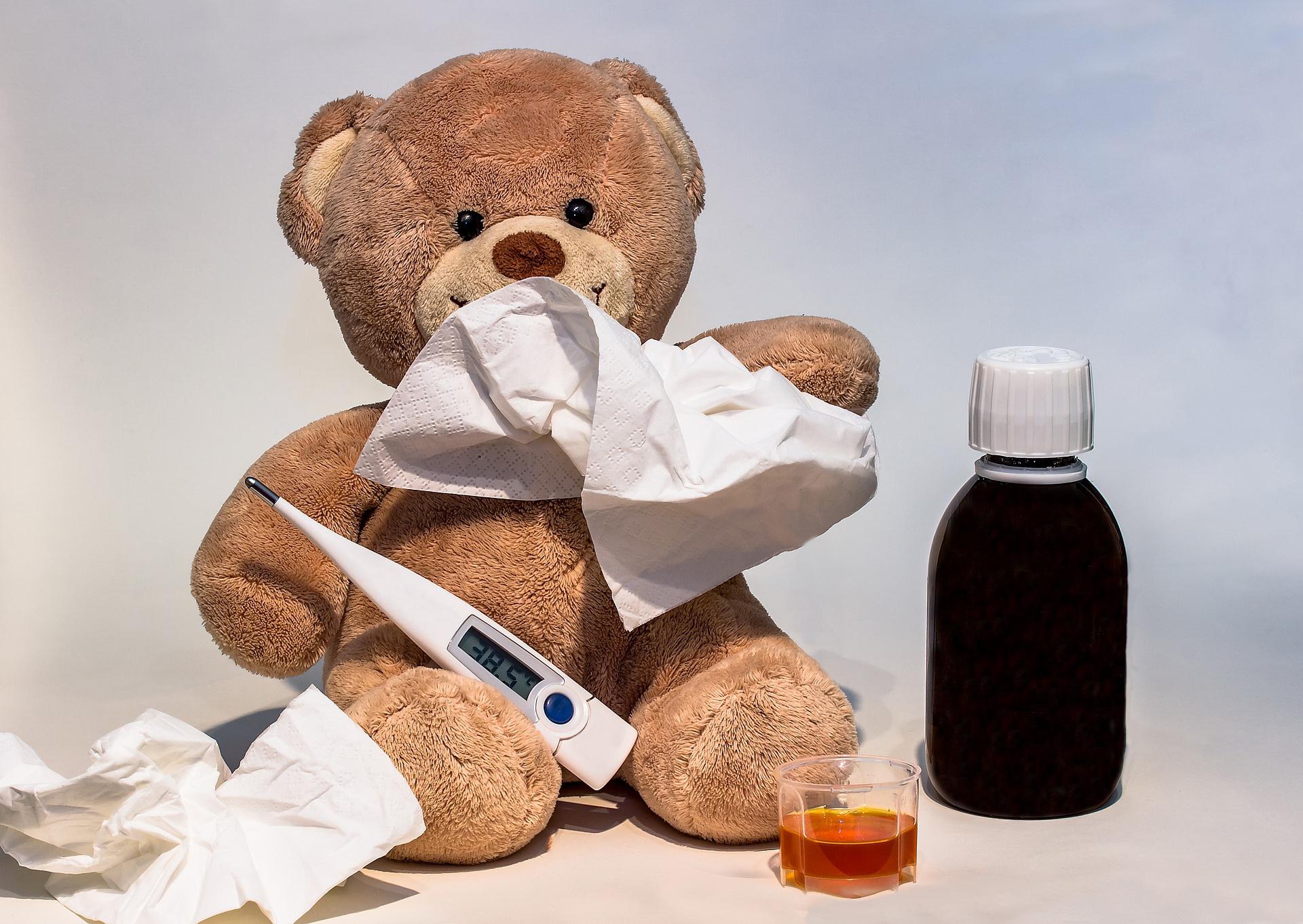 zagadka rymowanka o chorowaniu dla dzieci