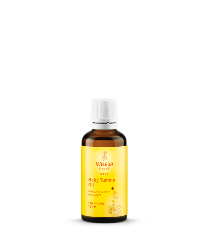 Calendula Bezzapachowy olejek do ciała dla niemowląt i dzieci z nagietkiem lekarskim firmy Weleda