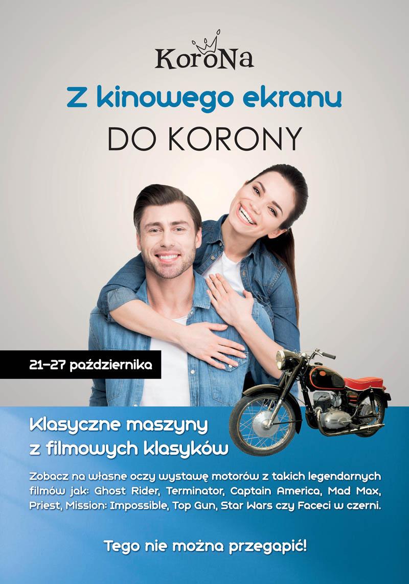 Wystawa motocykli filmowych w Centrum Korona