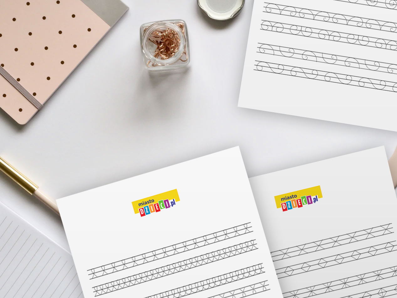 szlaczki dla dzieci do nauki pisania