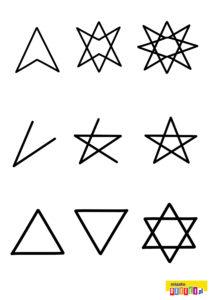 Jak narysować gwiazdę szablon dla dzieci do druku