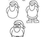 Jak narysować świętego Mikołaja zabawy do druku dla dzieci