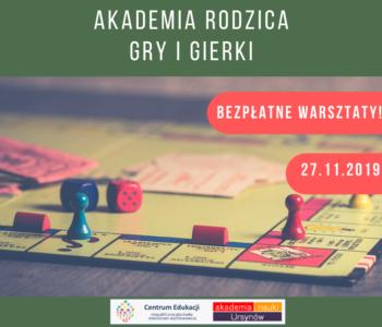 Centrum Edukacji Migdałowa zaprasza na bezpłatny warsztat: Gry i gierki