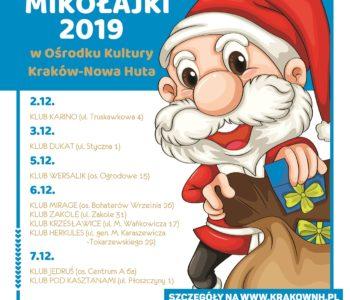 Mikołajki 2019 w Ośrodku Kultury Kraków – Nowa Huta
