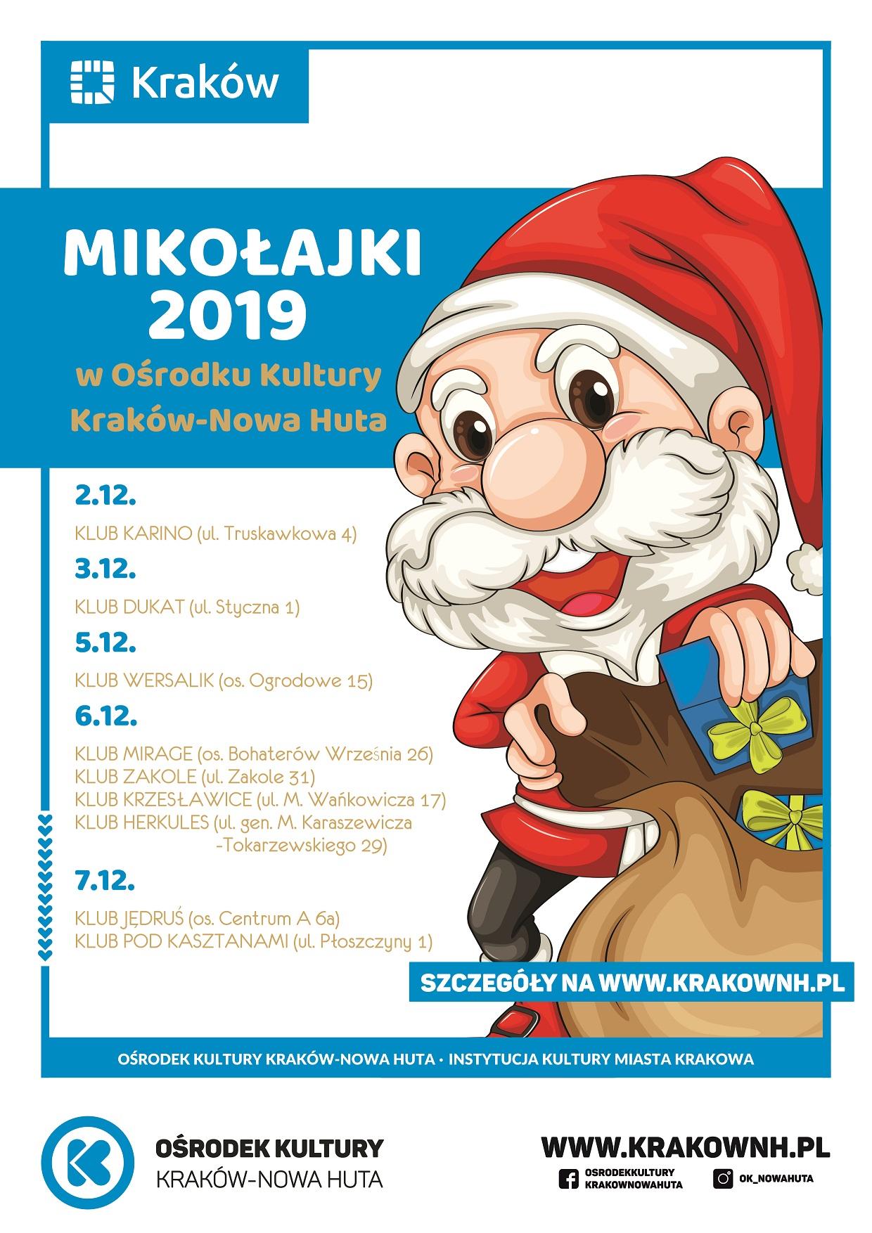 Mikołajki 2019 w Ośrodku Kultury Kraków - Nowa Huta