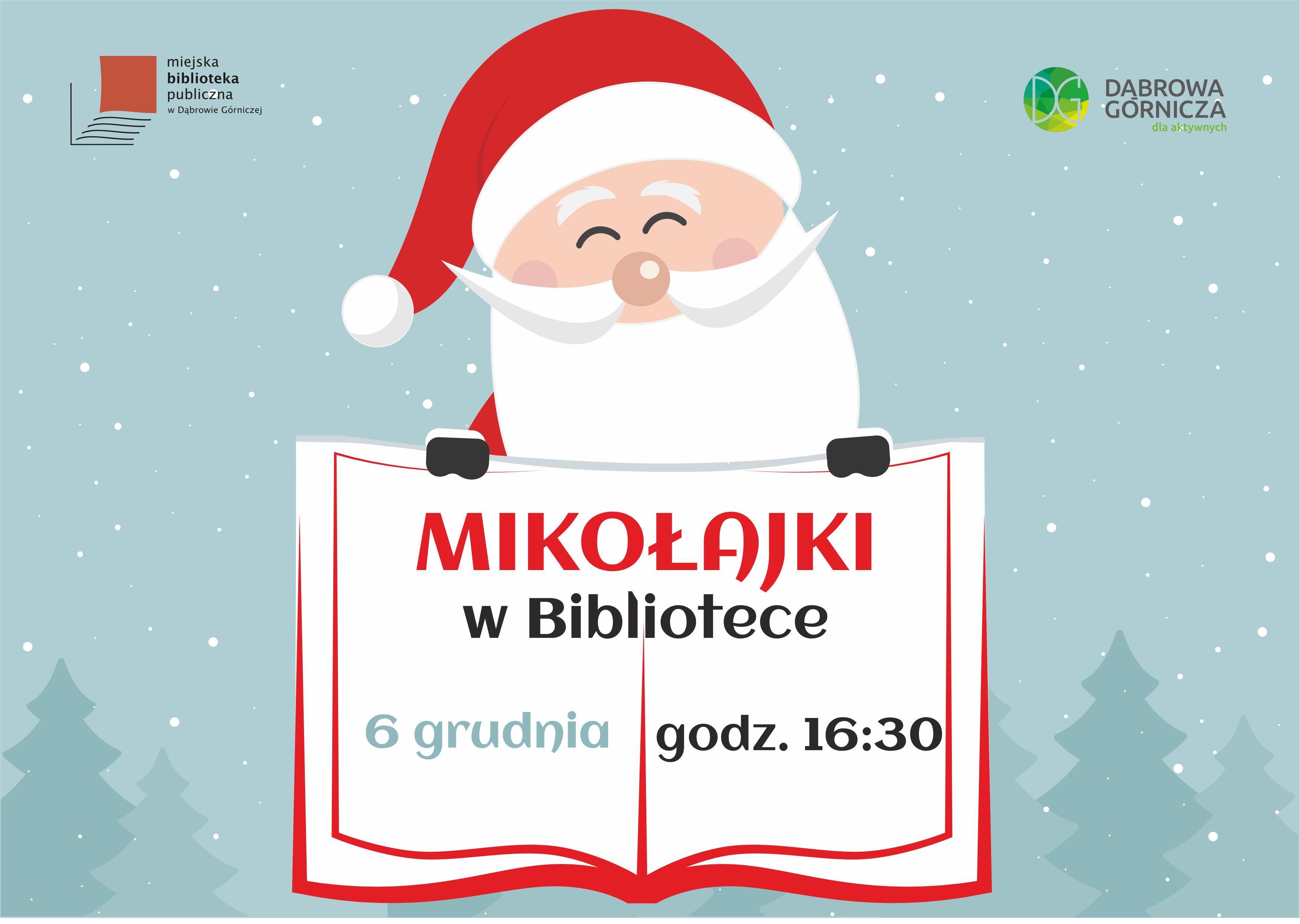 Mikołaj 2019 w dąbrowskiej książnicy