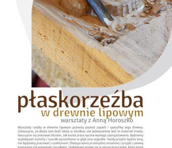 Warsztaty: Płaskorzeźba w drewnie lipowym