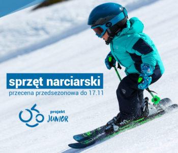 Przecena sprzętu narciarskiego dla dzieci