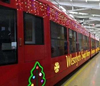Mikołajkowy tramwaj MOCAK-u