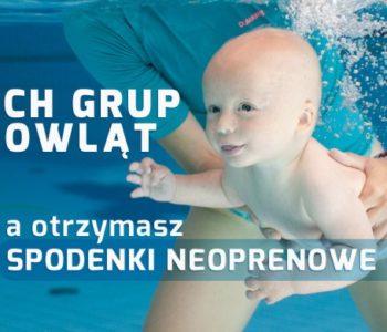 Ostatnie wolne miejsca na kurs zimowy pływania dla niemowląt