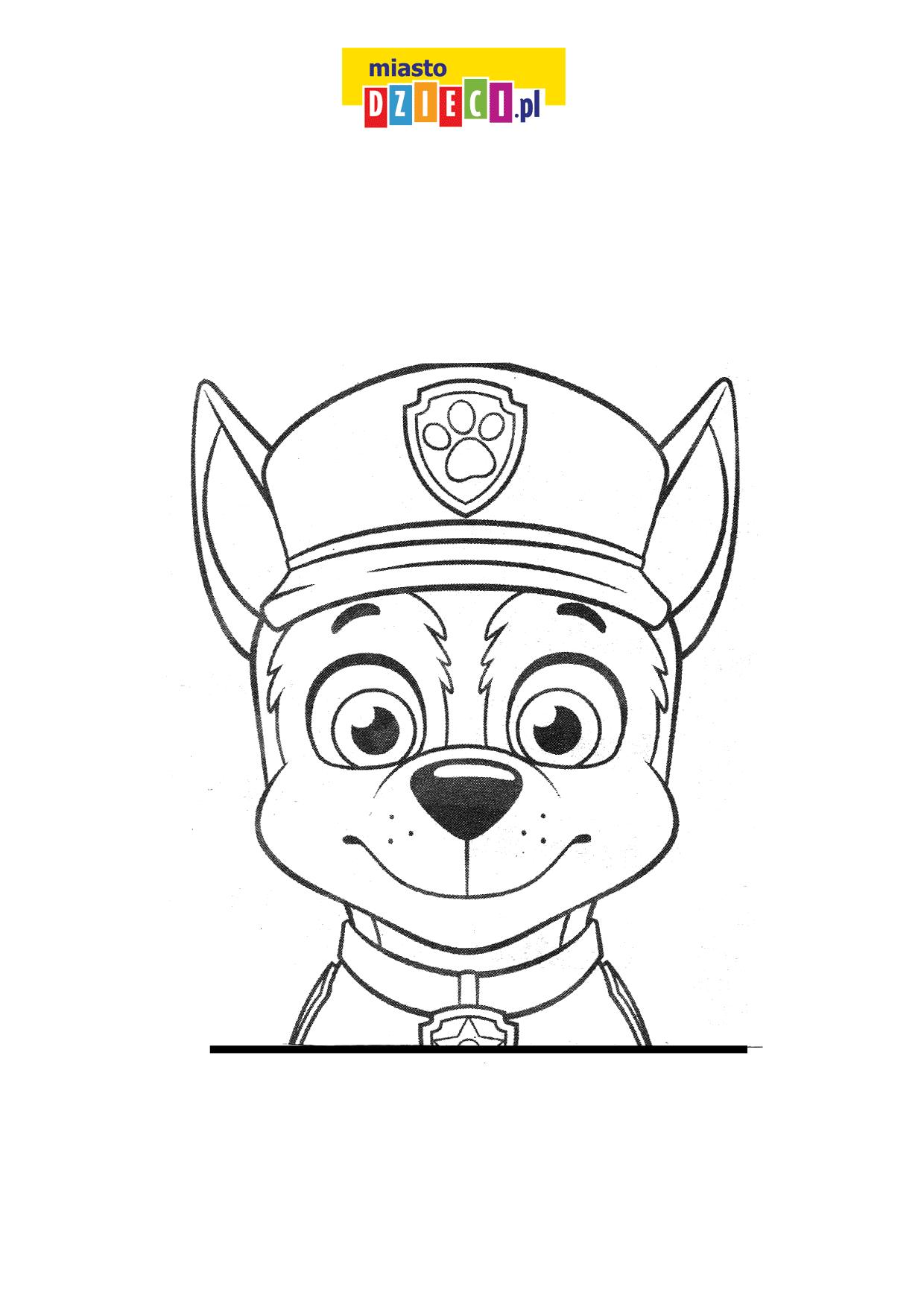 Chase kolorowanka Psi Patrol