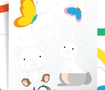 Rysowanie po linii zabawa dla dzieci do druku