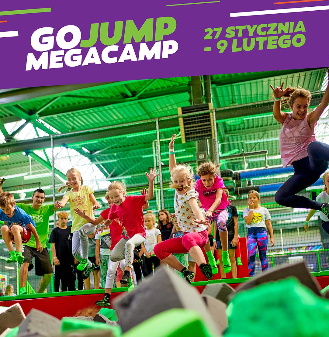 GOjump MEGACamp - zajęcia w ferie