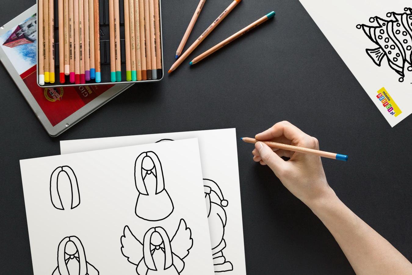 Jak narysować szablony Boże Narodzenie do druku