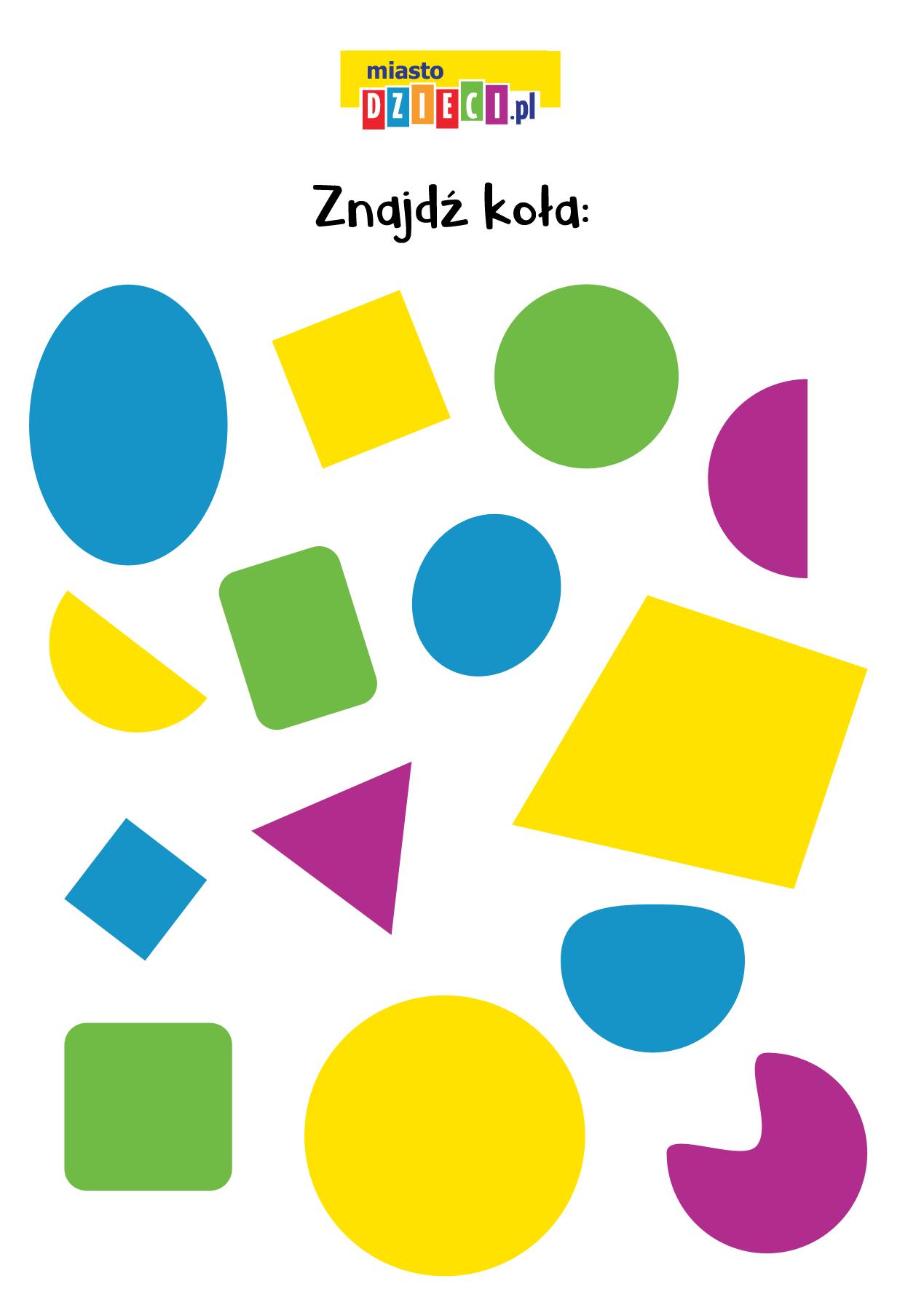 Zagadki matematyczne figury geometryczne do druku