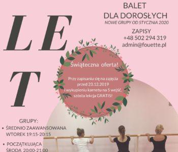 Baletowe zajęcia dla dorosłych