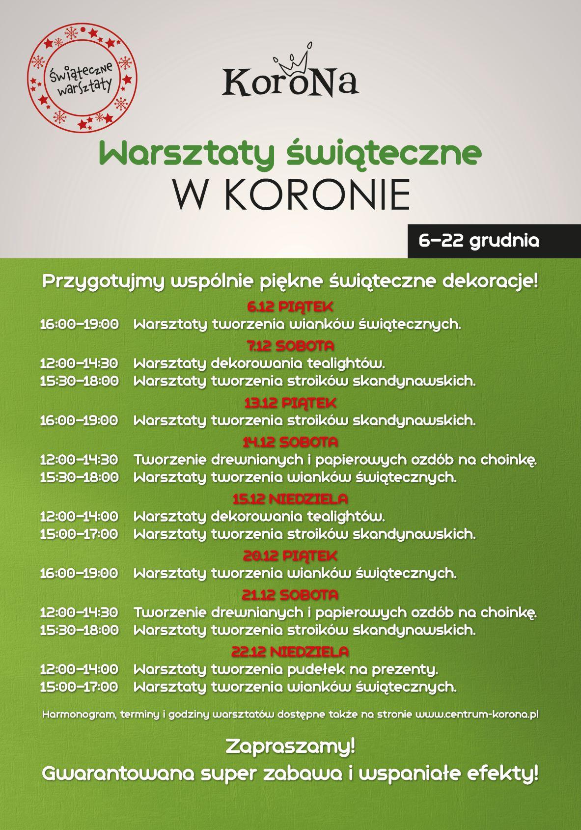 KORONA_WARSZTATY_SWIATECZNE_2019