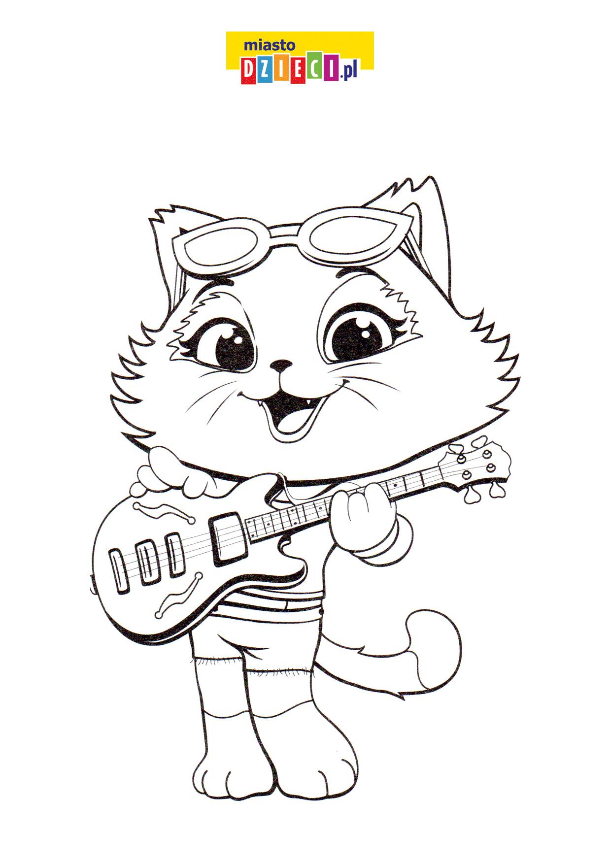 Kotka z gitarą
