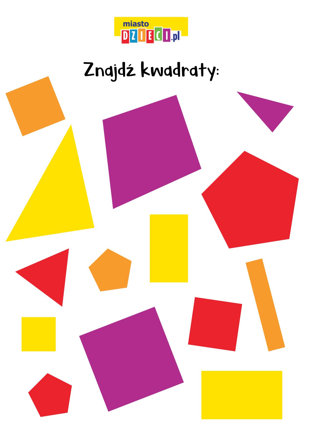 Figury geometryczne obrazkowe zagadki matematyczne dla dzieci