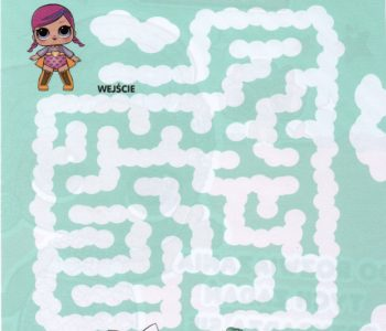 Labirynt z lalkami LOL, łamigłówki online do druku dla dzieci. Zabawy dla dziewczynek