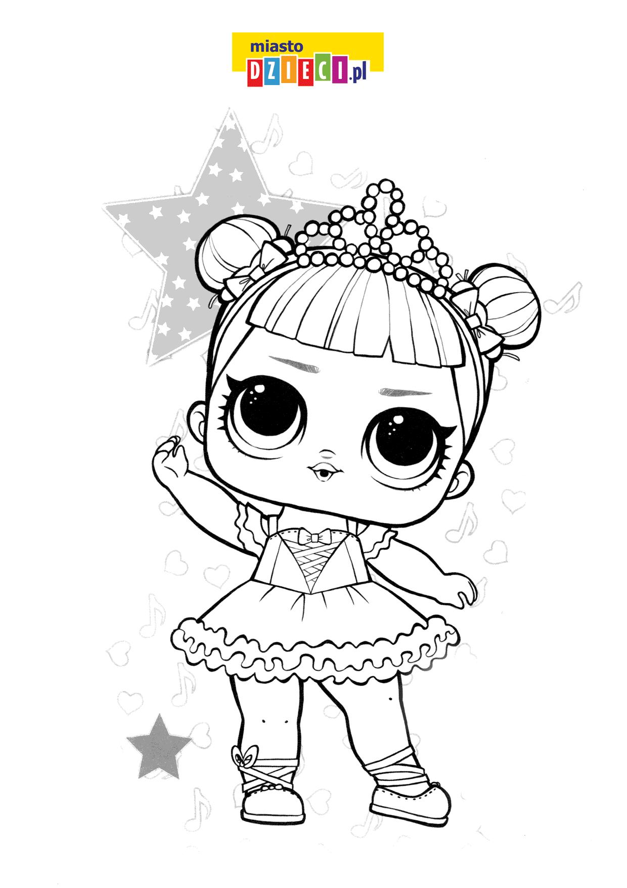 LO księżniczka kolorowanka do wydruku dla dzieci