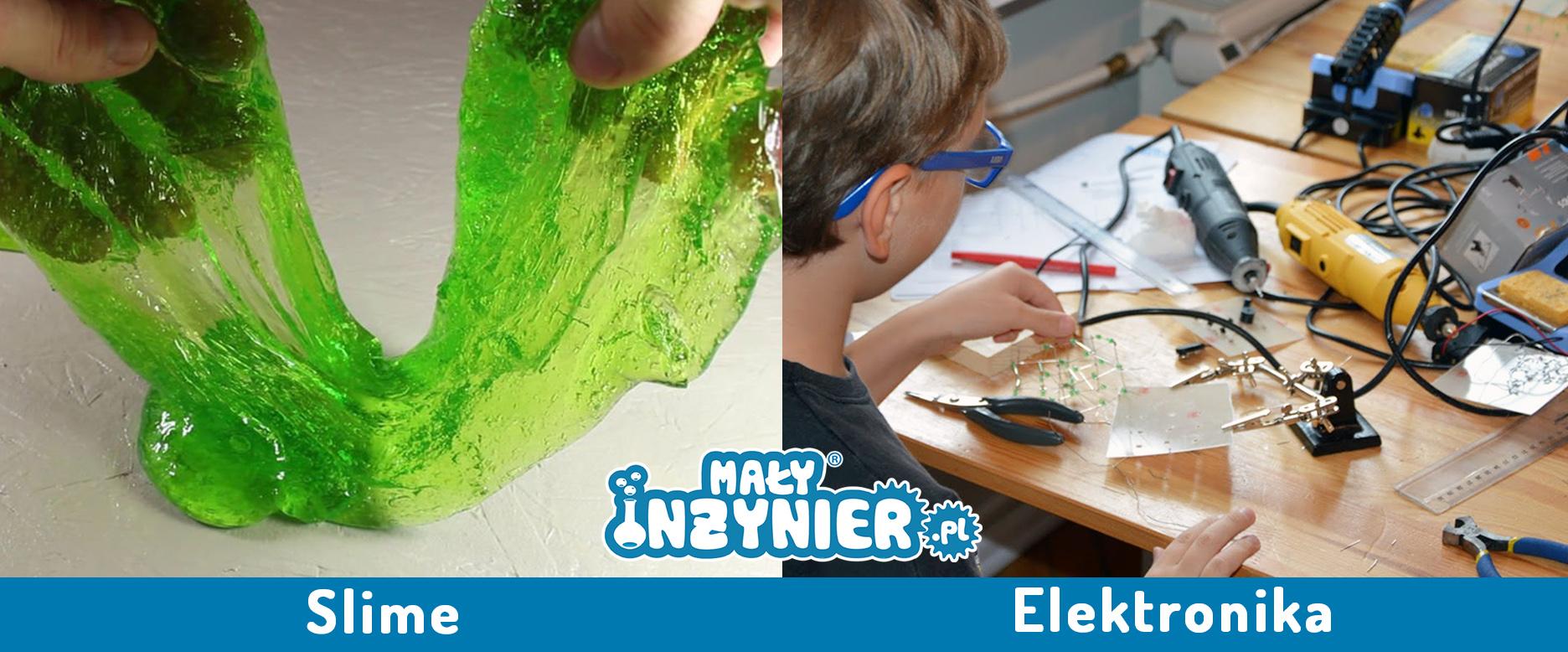 miasto dzieci ferie slime elektronika