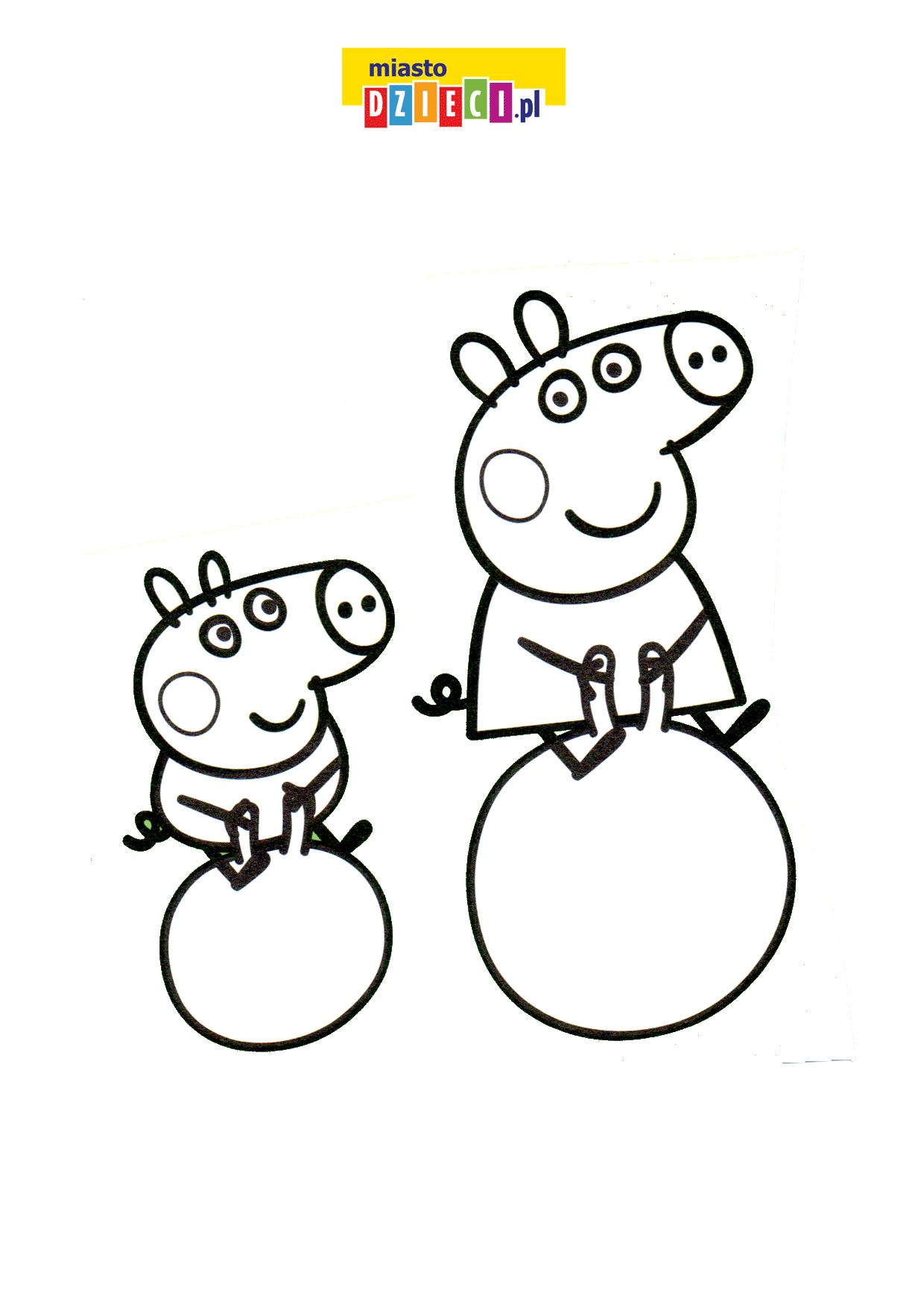 Świnka i George kolorowanka online do druku
