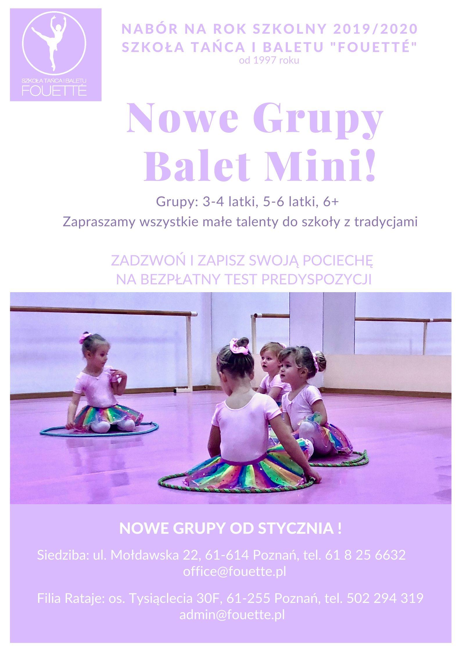 Plakat Nabór Balet Mini 19_20! (1)
