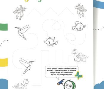 Połącz kreski zabawa do druku dla dzieci