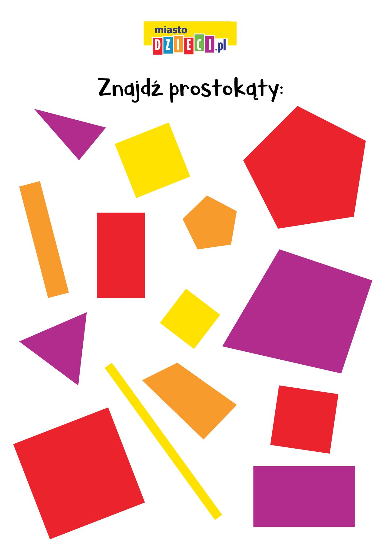 Figury geometryczne zagadki matematyczne dla dzieci