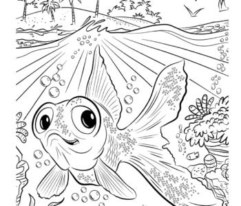 rybka kolorowanka online dla dzieci do druku