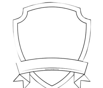 odznaka Psi Patrol kolorowanka do druku