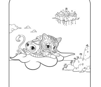 kolorowanka Tala i Nahal Shimmer i Shine kolorowanki dla dzieci do druku