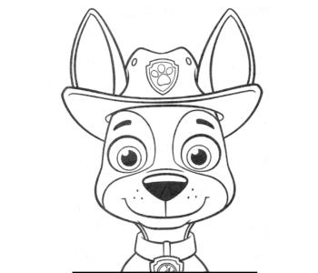 Tracker Psi Patrol kolorowanka do wydruku