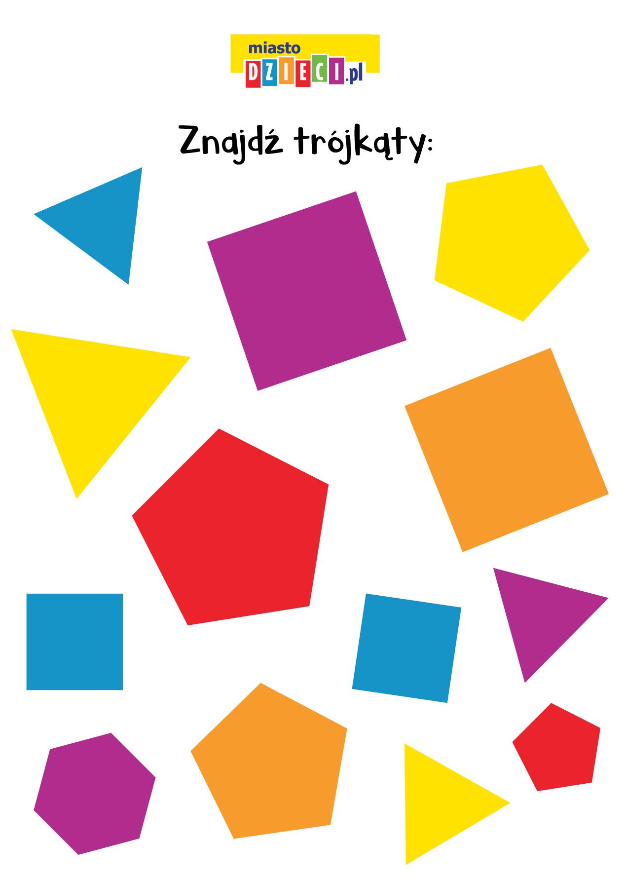 Zagadki matematyczne dla dzieci figury geometryczne trójkąty