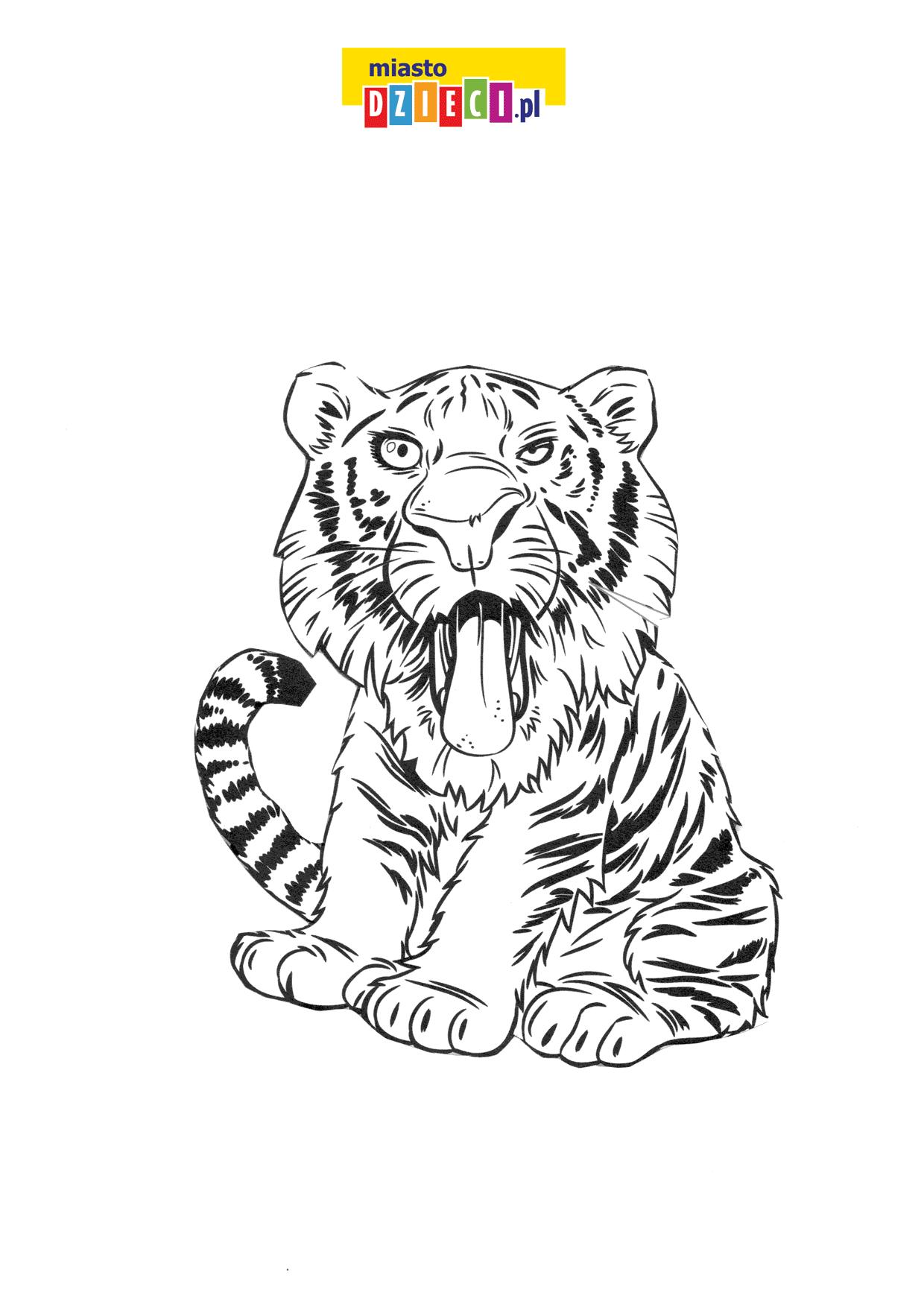 tygrys kolorowanka online do druku