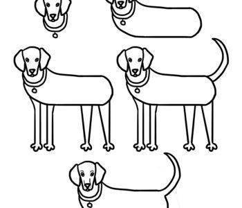 Jak narysować psa szablony rysowania dla dzieci do druku pies wyżeł