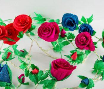 Krepinowe kwiaty dla babci – warsztaty. Bytom