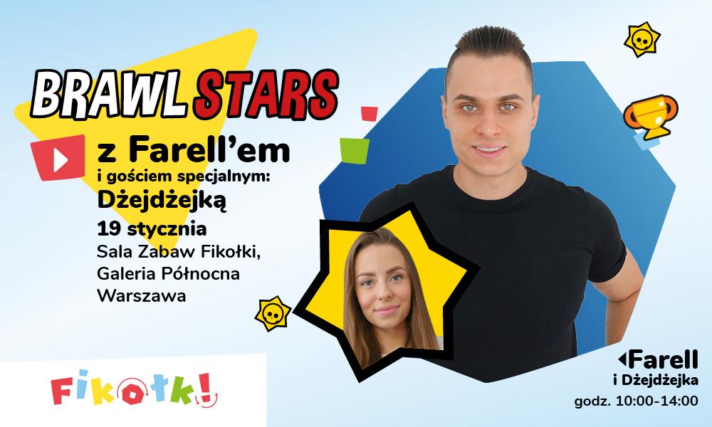 Brawl Stars z Farellem w Sali Zabaw Fikołki