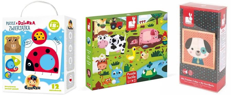 prezent na roczek jakie puzzle na 1 urodziny dla chłopca i dla dziewczynki