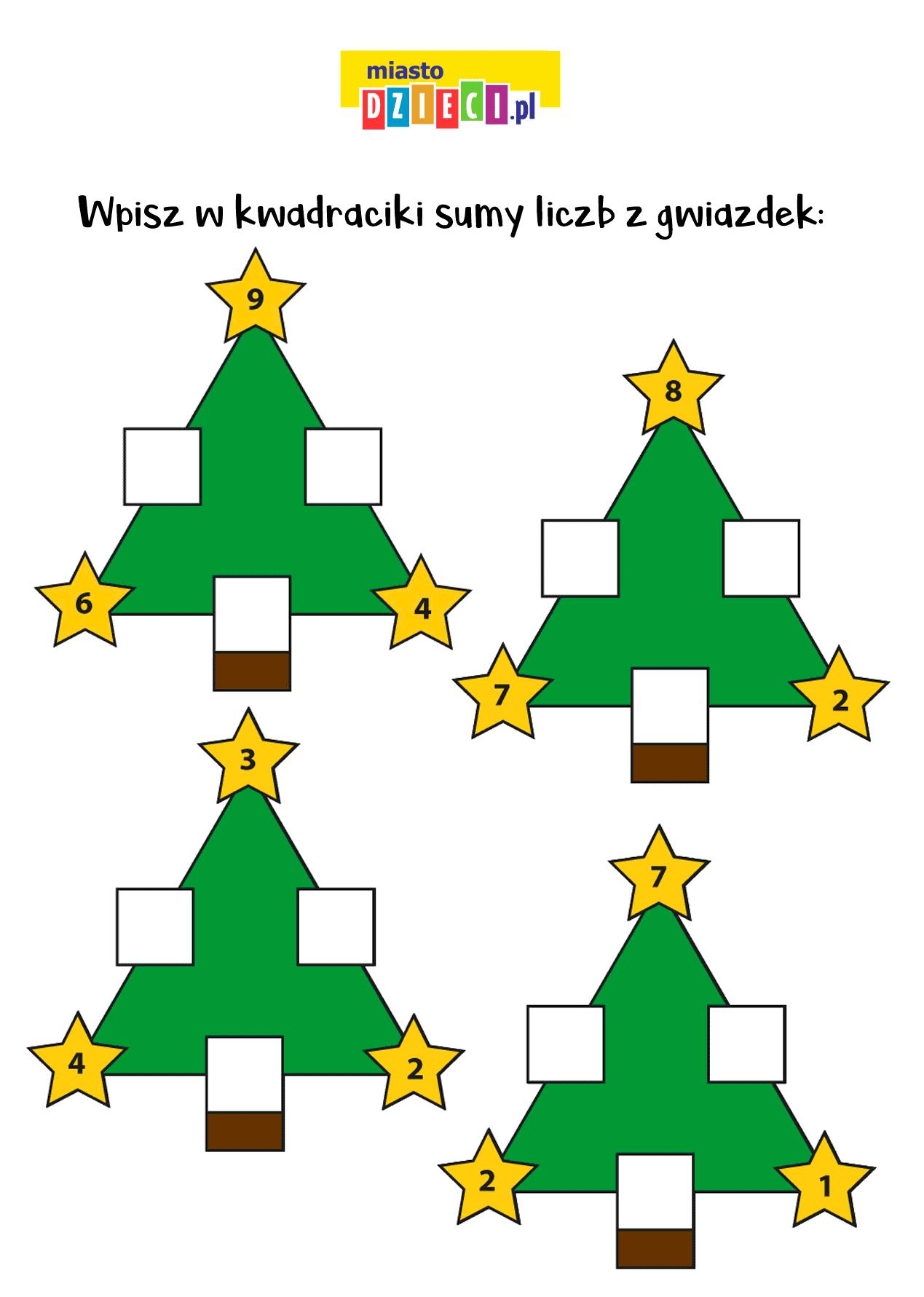 zagadki matematyczne obrazkowe dla dzieci do druku